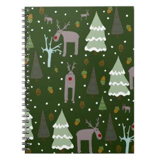 Winter Reindeer Notebook