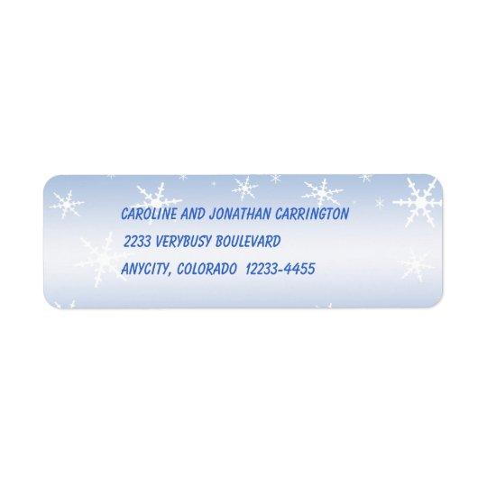 Winter Return Address Label