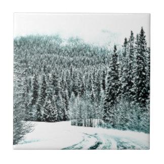 Winter Road Ceramic Tile