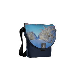 Winter Road Courier Bags