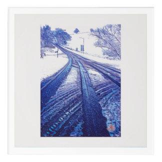Winter road in Wales Acrylic Wall Art