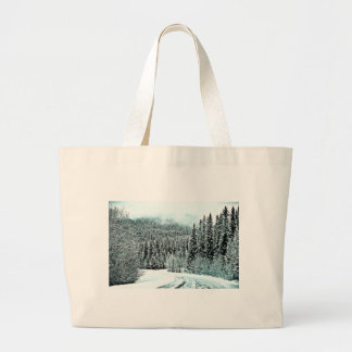 Winter Road Large Tote Bag