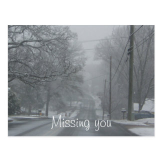 Winter Road: Missing You Postcard
