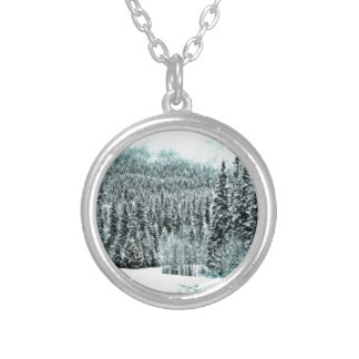 Winter Road Silver Plated Necklace