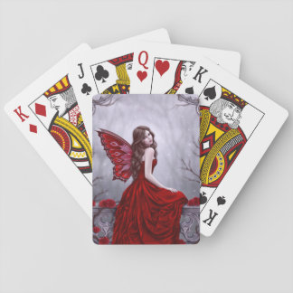 Winter Rose Butterfly Fairy Classic Playing Cards