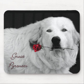 Winter Rose Mouse Pad