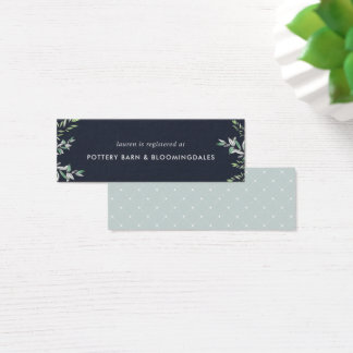 Winter Sage Bridal Registry Insert Cards | Mini