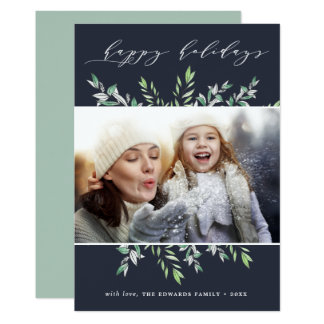 Winter Sage | Happy Holidays Photo Card