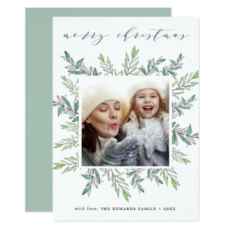 Winter Sage | Merry Christmas Holiday Photo Card