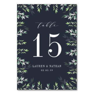 Winter Sage | Personalized Table Number Card