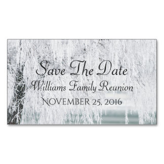 Winter Save The Date Magnetic Business Cards