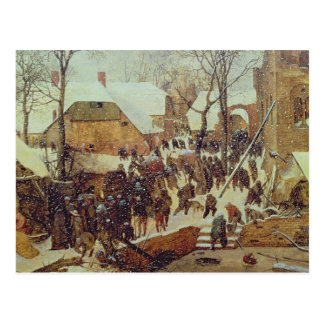 Winter Scene, 16th century Postcard