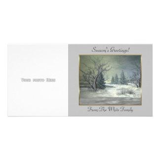 Winter Scene 4 Photo Card Template