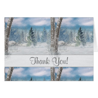 Winter Scene All Occasion Thank You Note Card