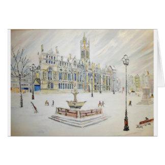 Winter scene at Albert Square Card