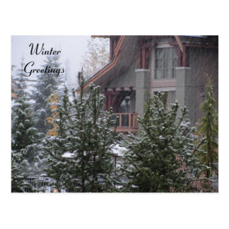 Winter Scene at Whistler, B.C. Postcard
