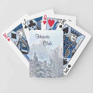 Winter Scene Bicycle Playing Cards