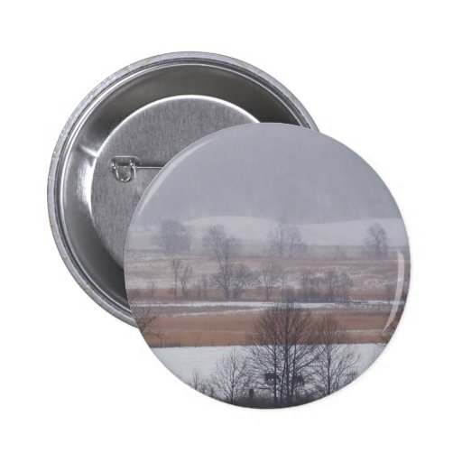 Winter Scene Cades Cove Great Smoky Mountains Button