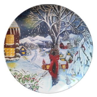 Winter Scene Decorator Plate