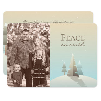 Winter Scene Holiday Photo Card