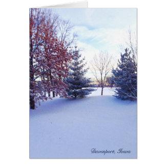 Winter Scene in Davenport, Iowa Note Card