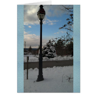 Winter Scene Lampost in the Snow Card