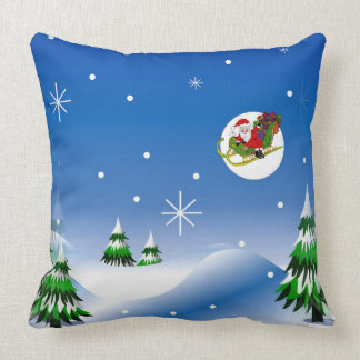 Winter Scene Landscape on Throw Pillow
