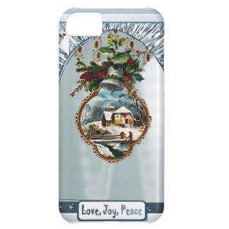 Winter scene, Love Joy Peace iPhone 5C Case