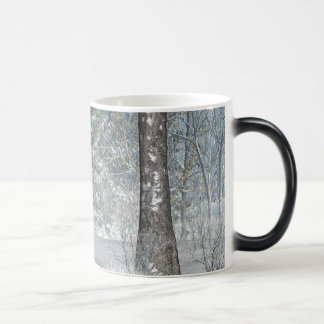 winter scene. magic mug