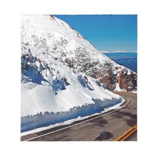 Winter Scene Mountain Road Cold Daytime Memo Pad