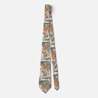 winter scene no2  -vintage Japanese art Tie