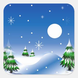 Winter Scene on Stickers