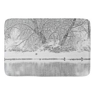 Winter Scene on the Platte River Bath Mat Bath Mats