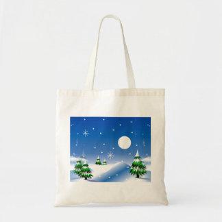 Winter Scene on Tote Bag