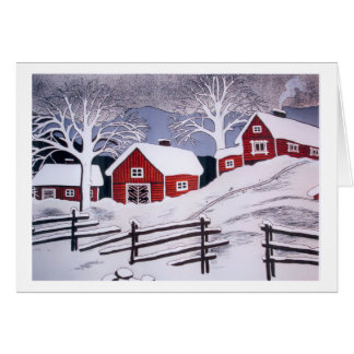 Winter Scene - Rural Card