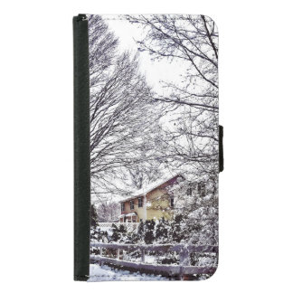 Winter Scene Samsung Galaxy S5 Wallet Case