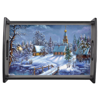 Winter Scene Serving Tray