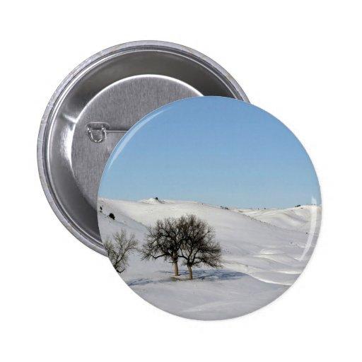 Winter Scene Snow Scape Pinback Button