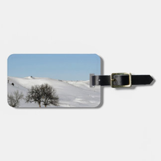 Winter Scene Snow Scape Travel Bag Tags