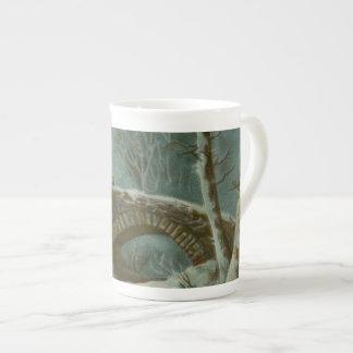 Winter Scene Tea Cup