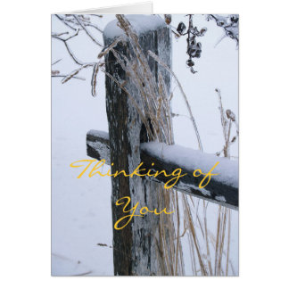 Winter Scene-Thinking of You Card