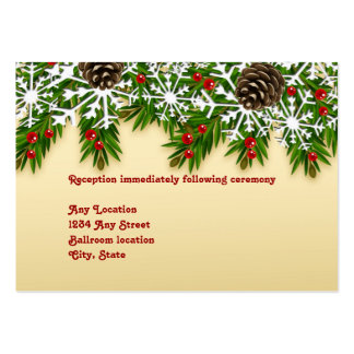 Winter Scene Wedding Reception Card Pack Of Chubby Business Cards
