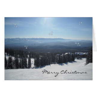 Winter Scene with Snow Covered Trees Greeting Card