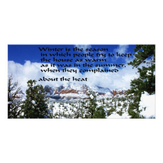 Winter Scenery Photo Card