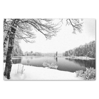winter scenery tissue paper