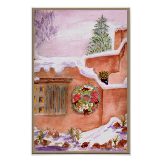 Winter Season Adobe Art Poster