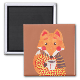 Winter Season is Coming (Fox Edition) Square Magnet