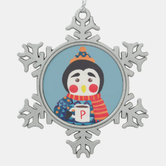Winter Season is Coming (Penguin Edition) Pewter Snowflake Decoration