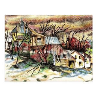 Winter Shack Postcard