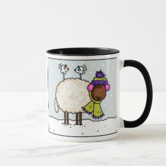 winter sheep mug